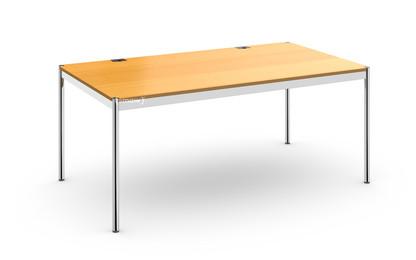 USM Haller Tisch Plus 100 x 175 cm|05-Buche natur|Ohne Klappe
