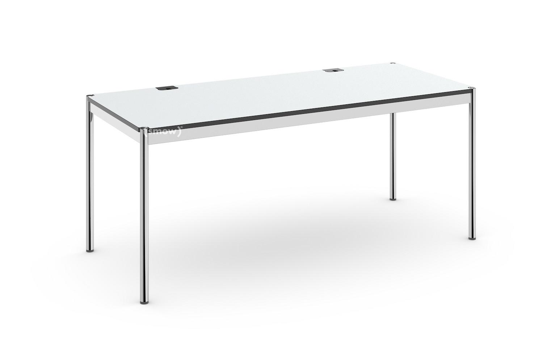 Relativ USM Haller Tisch Plus, 75 x 175 cm, 02-Kunstharz perlgrau, Ohne LH36