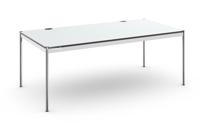 usm haller tisch plus 100 x 200 cm 02 kunstharz perlgrau ohne klappe von usm designerm bel. Black Bedroom Furniture Sets. Home Design Ideas