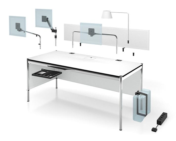 Usm Haller Tisch Plus 75 X 150 Cm 05 Buche Natur Klappe Links Von