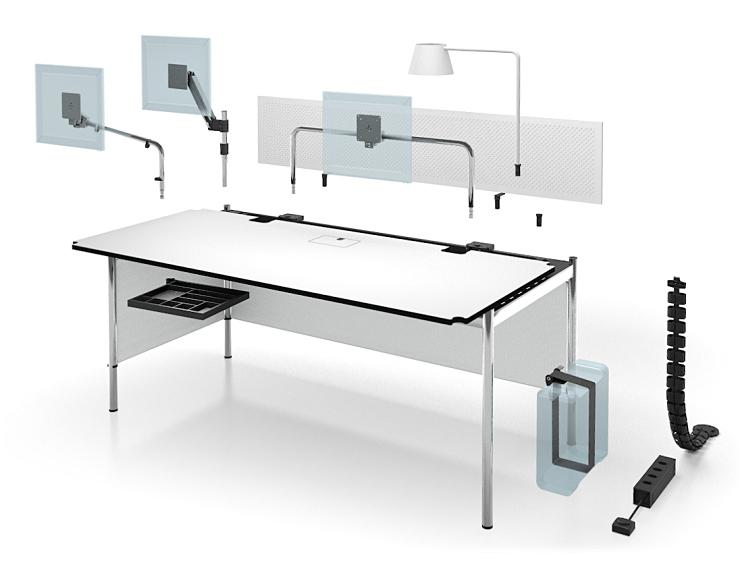 usm haller tisch advanced von usm designerm bel von. Black Bedroom Furniture Sets. Home Design Ideas