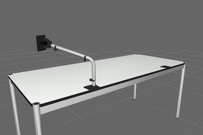 USM Träger Flachbildschirm für USM Haller Tisch