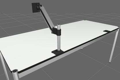 USM Schwenkarm Flachbildschirm für USM Haller Tisch
