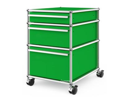 USM Haller Rollcontainer mit 3 Schubladen Typ II (mit Gegengewicht) Kein Schloss|USM grün