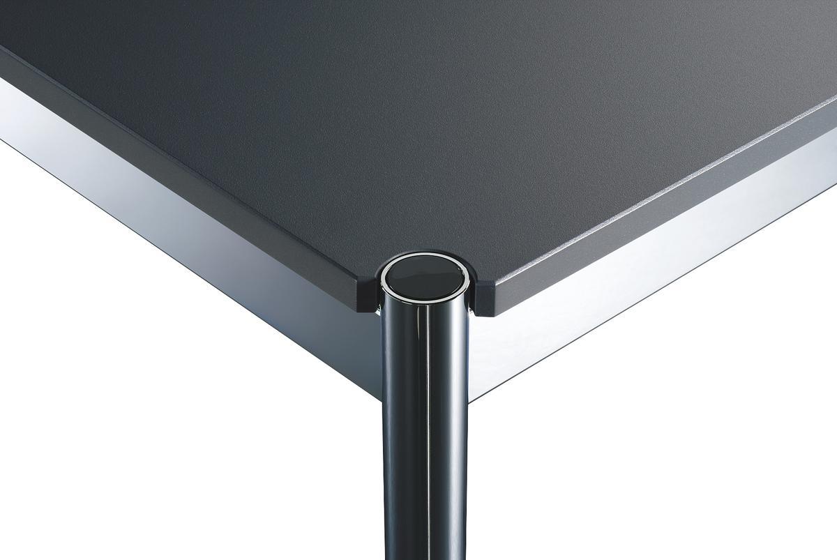 usm haller tisch usm farben 75 x 175 cm mdf anthrazitgrau ral 7016 von fritz haller paul. Black Bedroom Furniture Sets. Home Design Ideas