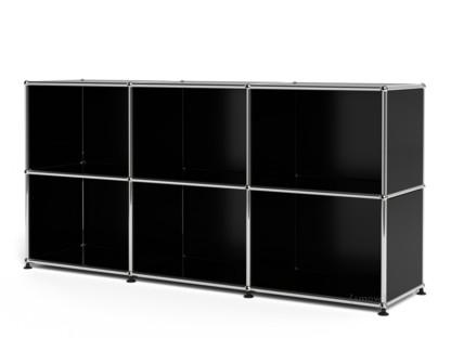 USM Haller Sideboard 50, individualisierbar Graphitschwarz RAL 9011 Offen Offen
