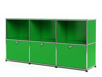 USM Haller Sideboard 50, individualisierbar USM grün|Offen|Mit 3 Klappen