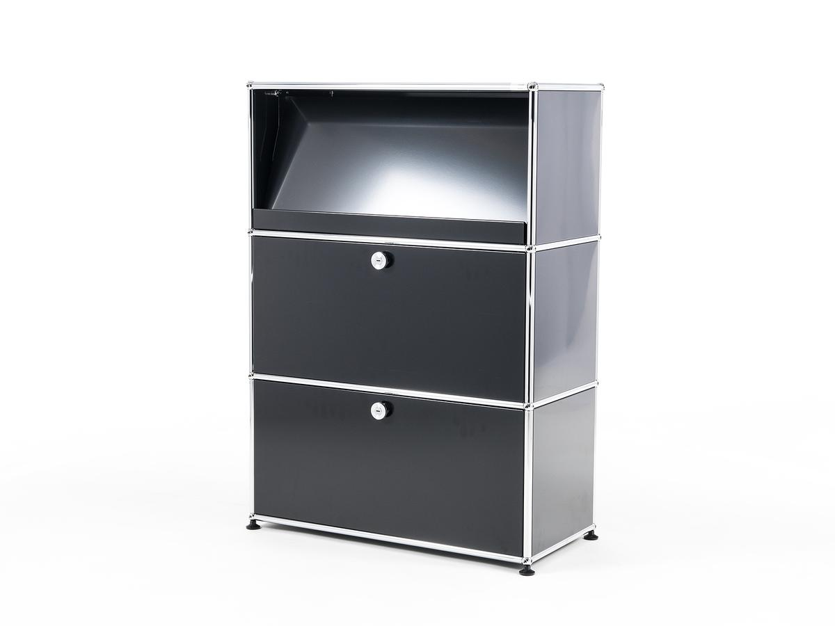 usm haller highboard m mit schr gtablar von fritz haller. Black Bedroom Furniture Sets. Home Design Ideas
