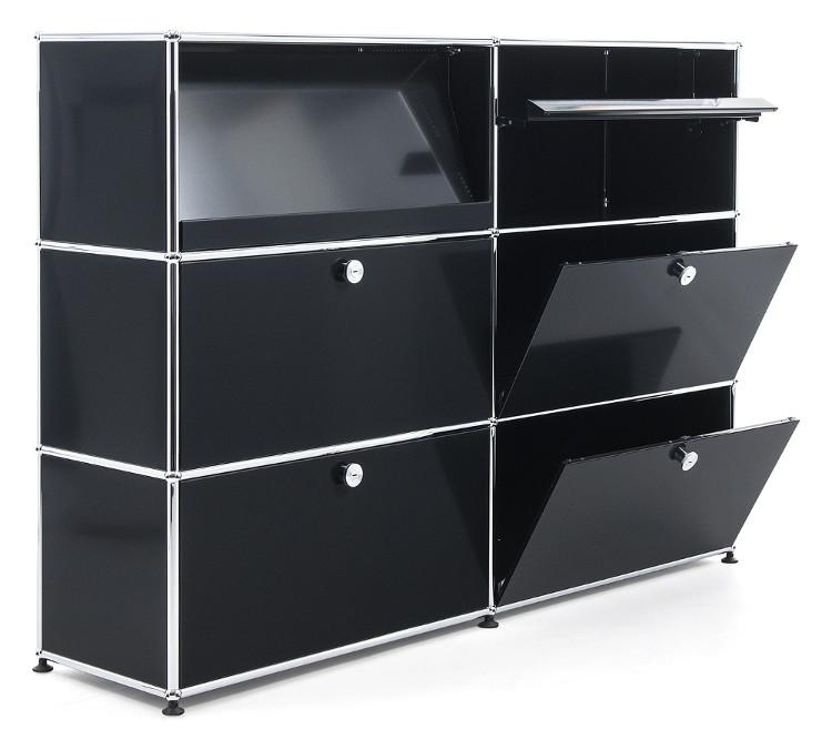 usm haller highboard l with angled shelves by fritz haller. Black Bedroom Furniture Sets. Home Design Ideas