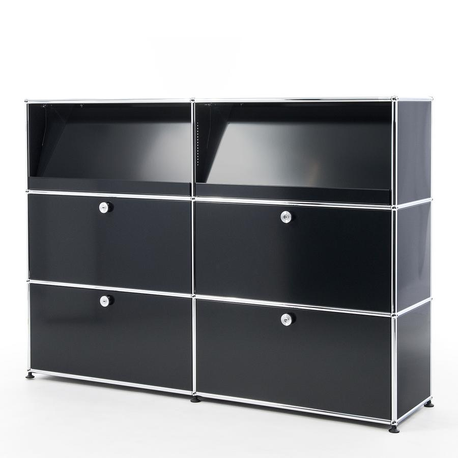 usm haller highboard l mit schr gtablaren von fritz haller paul sch rer designerm bel von. Black Bedroom Furniture Sets. Home Design Ideas