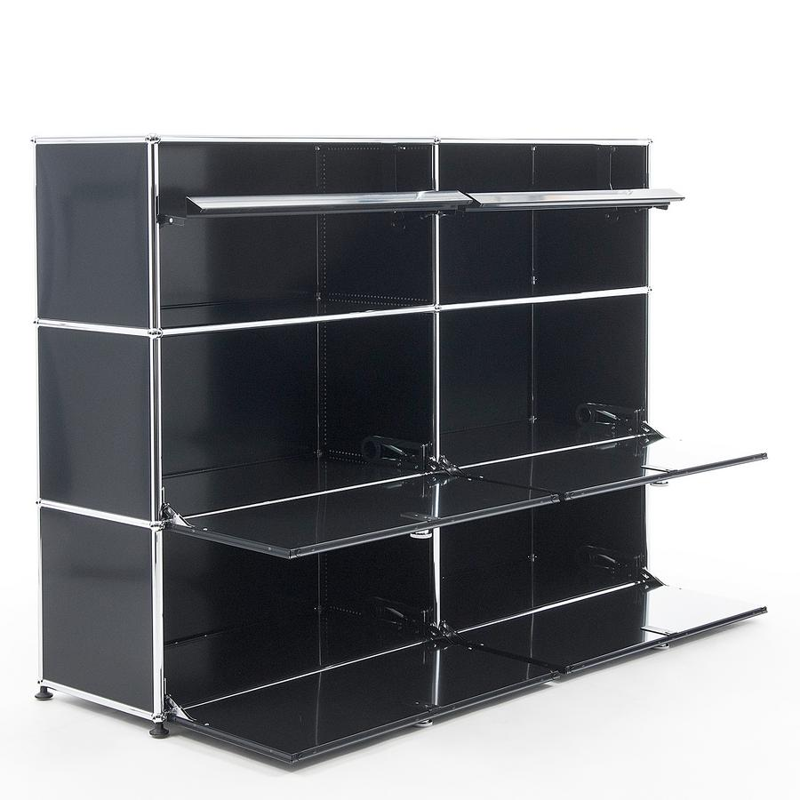 usm haller highboard l mit schr gtablaren von fritz haller. Black Bedroom Furniture Sets. Home Design Ideas