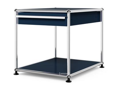 USM Haller Beistelltisch mit Schublade Stahlblau RAL 5011