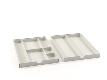 USM Inos Materialeinsatz für flache Schublade (Rollcontainer) Lichtgrau RAL 7035