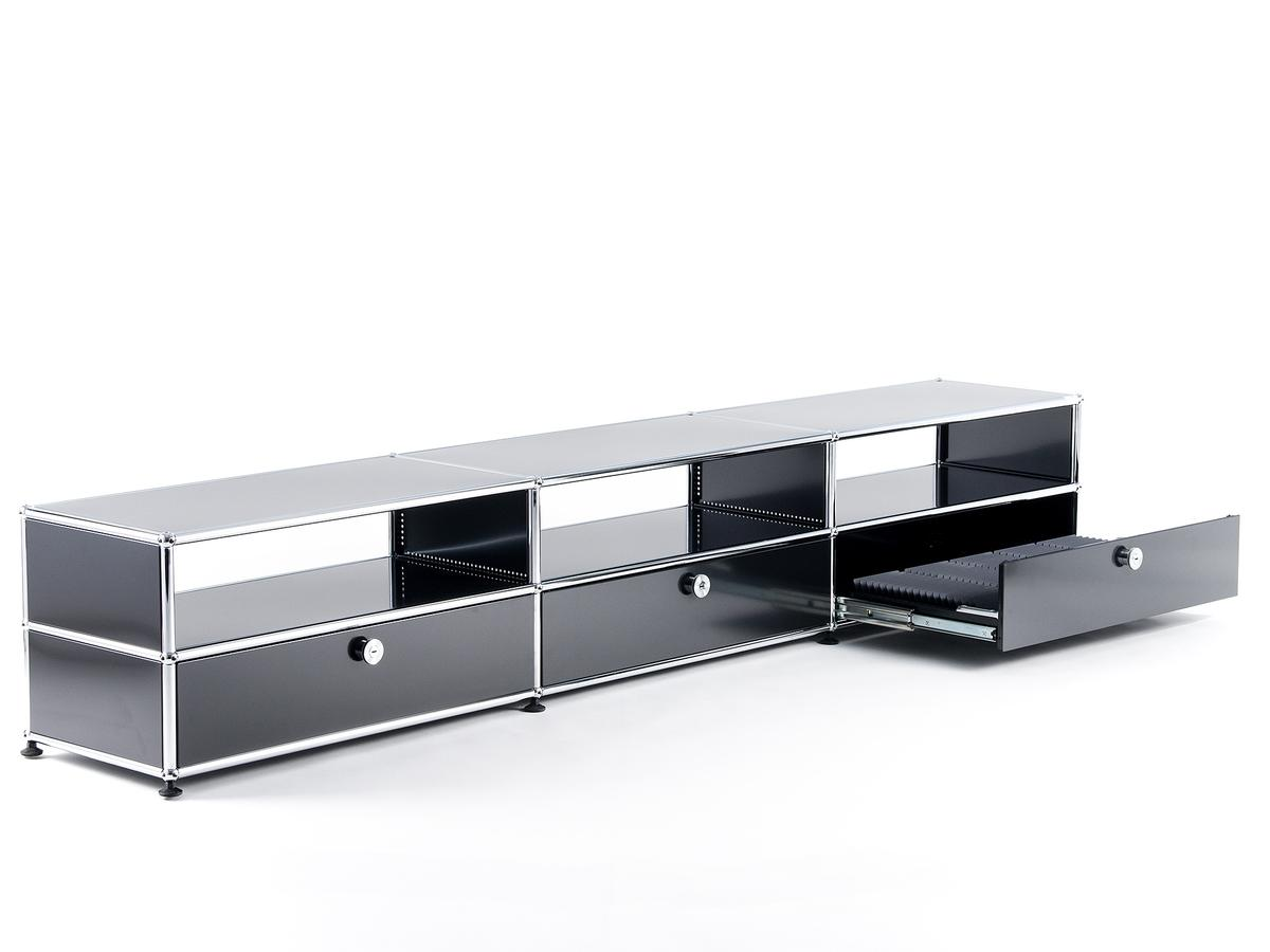 usm haller hifi lowboard von fritz haller paul sch rer. Black Bedroom Furniture Sets. Home Design Ideas