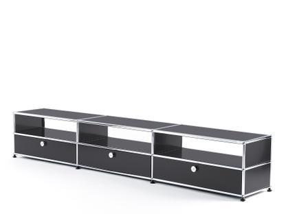 USM Haller HiFi-Lowboard Anthrazitgrau RAL 7016