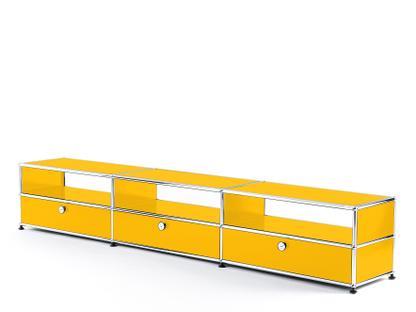 USM Haller HiFi-Lowboard Goldgelb RAL 1004