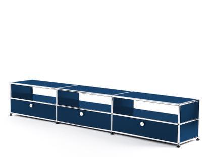 USM Haller HiFi-Lowboard Stahlblau RAL 5011