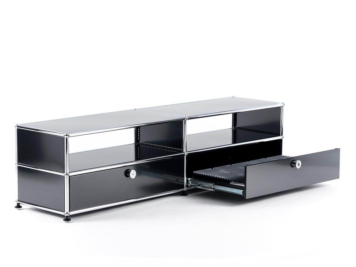 usm haller tv board mit auszieht ren von fritz haller paul sch rer. Black Bedroom Furniture Sets. Home Design Ideas