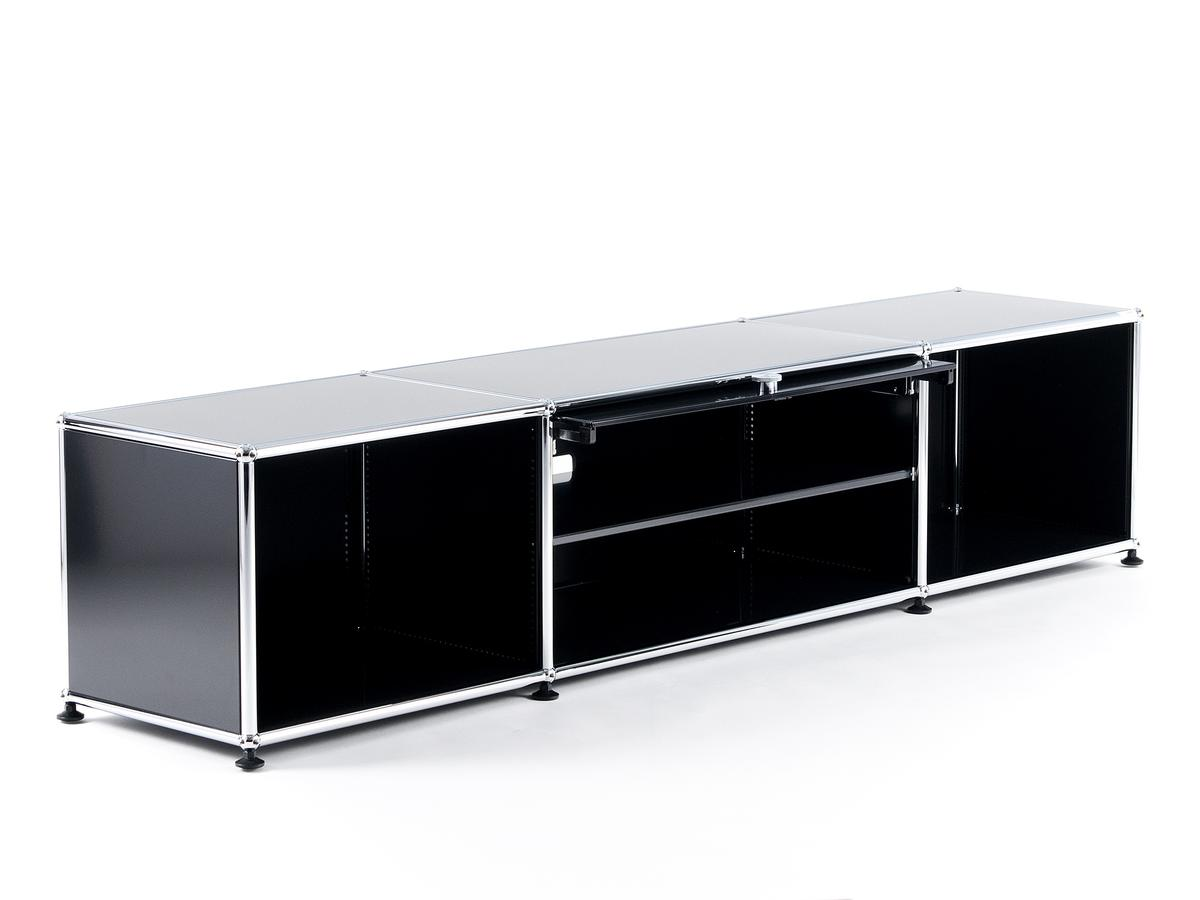 usm haller tv lowboard mit einschubt r von fritz haller. Black Bedroom Furniture Sets. Home Design Ideas