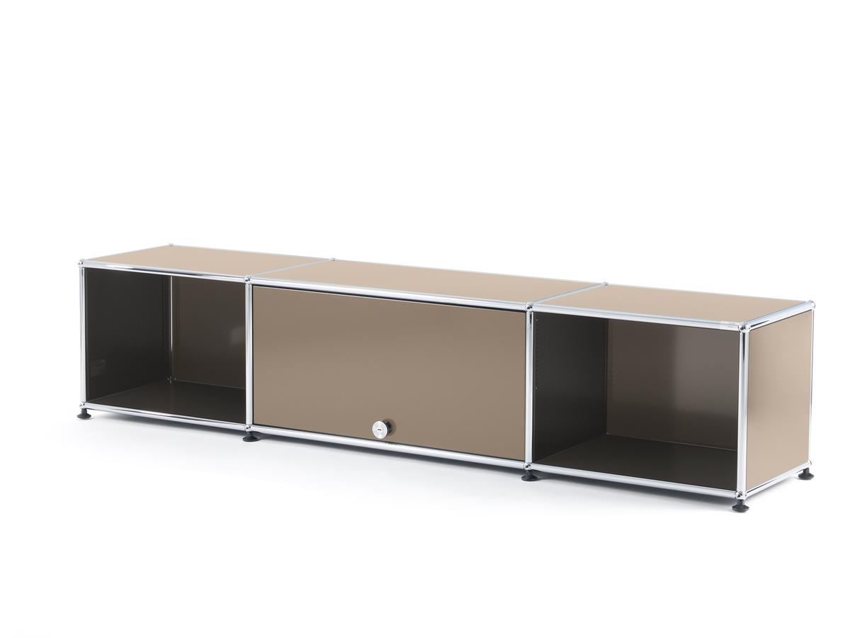 usm haller tv lowboard mit einschubt r usm beige von fritz haller paul sch rer. Black Bedroom Furniture Sets. Home Design Ideas