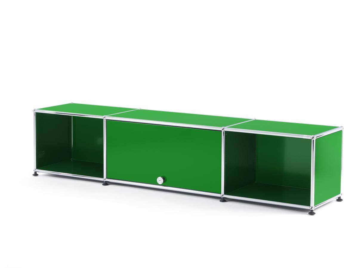 usm haller tv lowboard mit einschubt r usm gr n von fritz. Black Bedroom Furniture Sets. Home Design Ideas