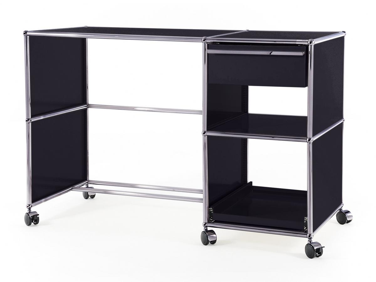 usm haller schreibtisch auf rollen typ 2 von fritz haller. Black Bedroom Furniture Sets. Home Design Ideas