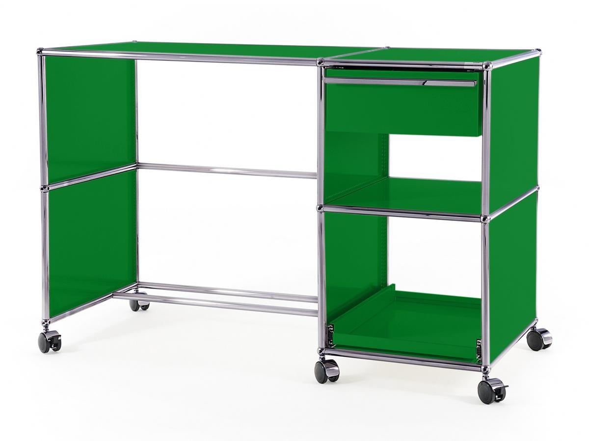 USM Haller USM Haller Schreibtisch auf Rollen Typ 2, USM grün