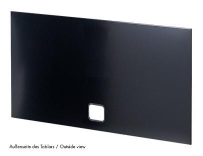 USM Haller Tablar mit Kabeldurchlass 50 x 35 cm|Graphitschwarz RAL 9011|Unten mittig