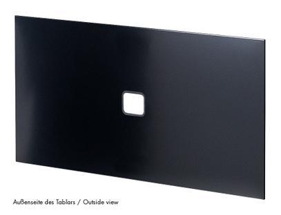 USM Haller Tablar mit Kabeldurchlass 75 x 35 cm|Graphitschwarz RAL 9011|Mitte mittig