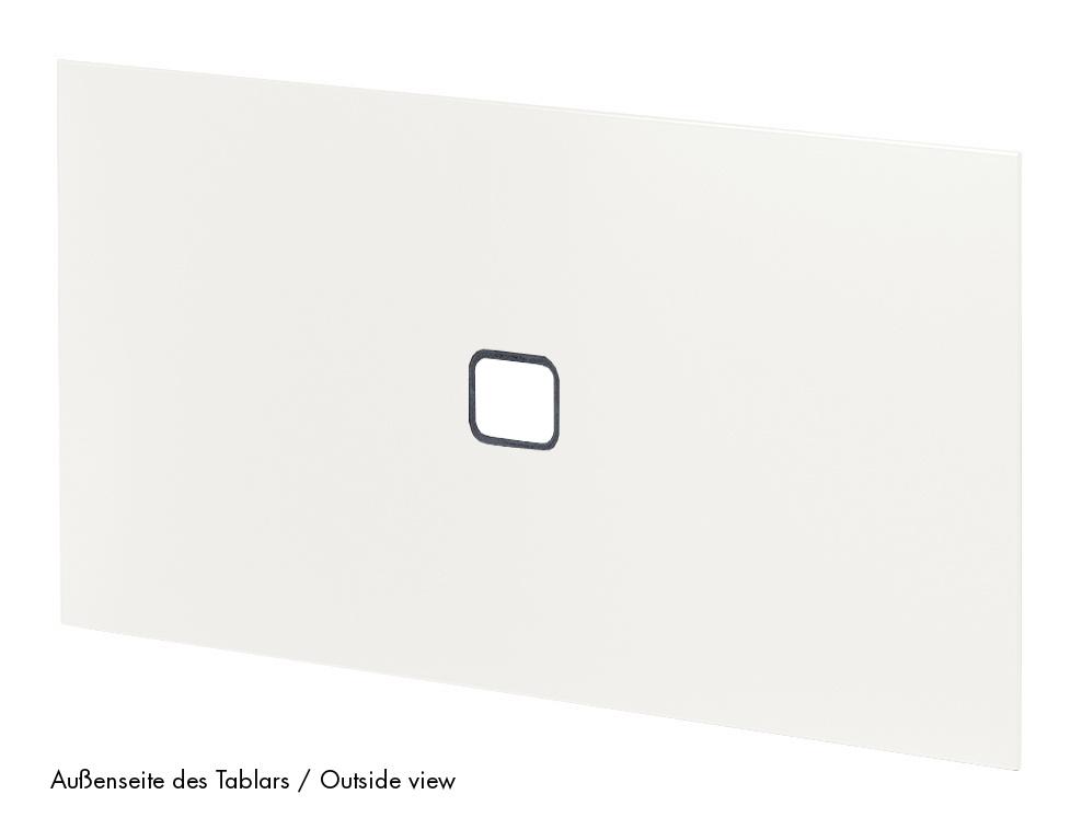 Usm Haller Tablar Mit Kabeldurchlass 75 X 50 Cm Reinweiss Ral 9010