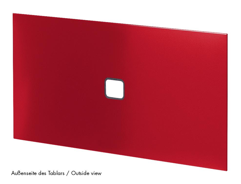Usm Haller Tablar Mit Kabeldurchlass 75 X 50 Cm Usm Rubinrot