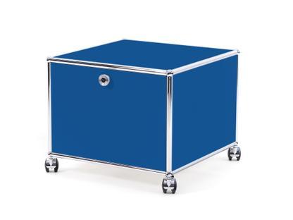 USM Haller Druckercontainer 50 cm|Enzianblau RAL 5010|Mit Rollen
