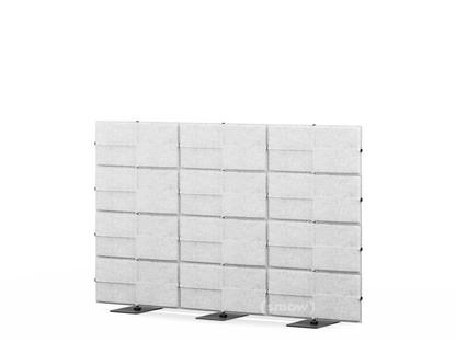 USM Privacy Panels Akustikwand 2,25 m (3 Elemente)|1,44 m (4 Elemente)|Hellgrau