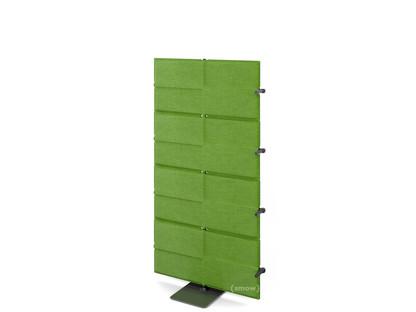 USM Privacy Panels Akustikwand Anbauelement Mit Eckverbinder (für 90° Winkel) 1,44 m (4 Elemente) Grün