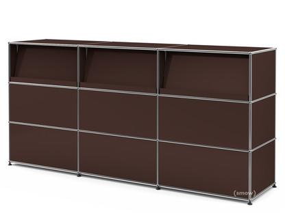 usm haller theke typ 2 mit schr gtablaren usm braun. Black Bedroom Furniture Sets. Home Design Ideas