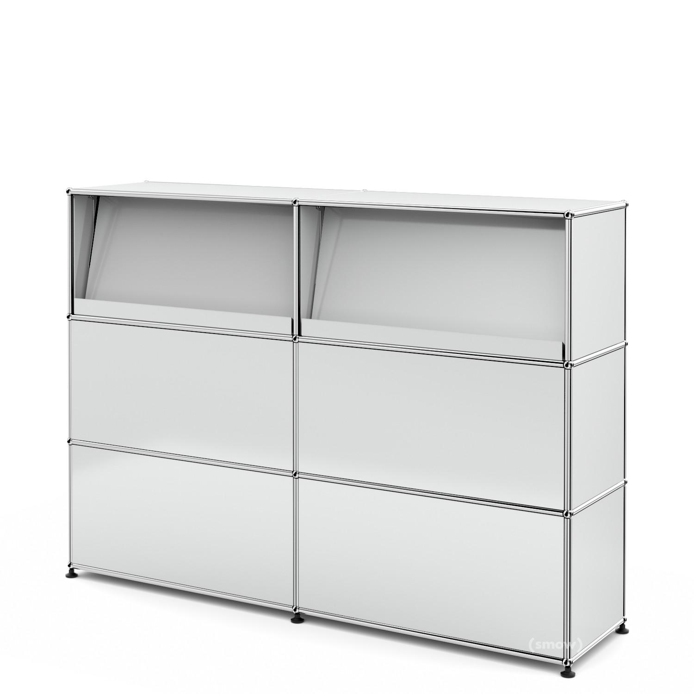 usm haller theke typ 2 mit schr gtablaren lichtgrau ral. Black Bedroom Furniture Sets. Home Design Ideas