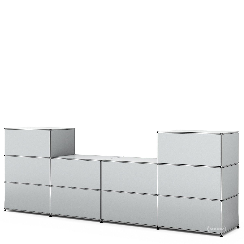 usm haller theke typ 3 usm mattsilber 50 cm von fritz. Black Bedroom Furniture Sets. Home Design Ideas