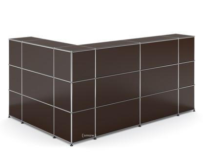 usm haller theke typ 4 usm braun ecke geschlossen von. Black Bedroom Furniture Sets. Home Design Ideas