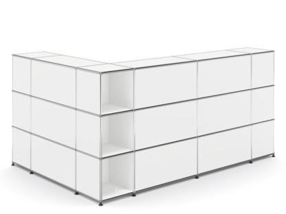 usm haller theke typ 4 reinwei ral 9010 ecke offen von. Black Bedroom Furniture Sets. Home Design Ideas