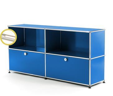 USM Haller E Sideboard L mit Fachbeleuchtung Enzianblau RAL 5010 Warmweiß