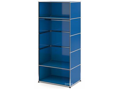 USM Haller Garderobe M mit Kleiderstange Typ II Enzianblau RAL 5010