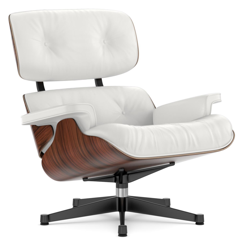 Lounge Chair Santos Palisander|Snow|84 Cm   Originalhöhe 1956|Aluminium  Poliert,
