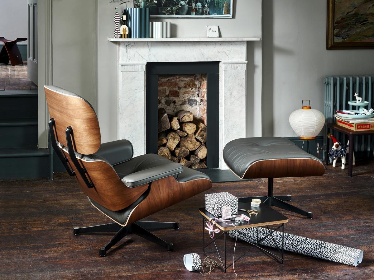 Vitra Lounge Chair, Nussbaum Schwarz Pigmentiert, Nero, 89 Cm ...