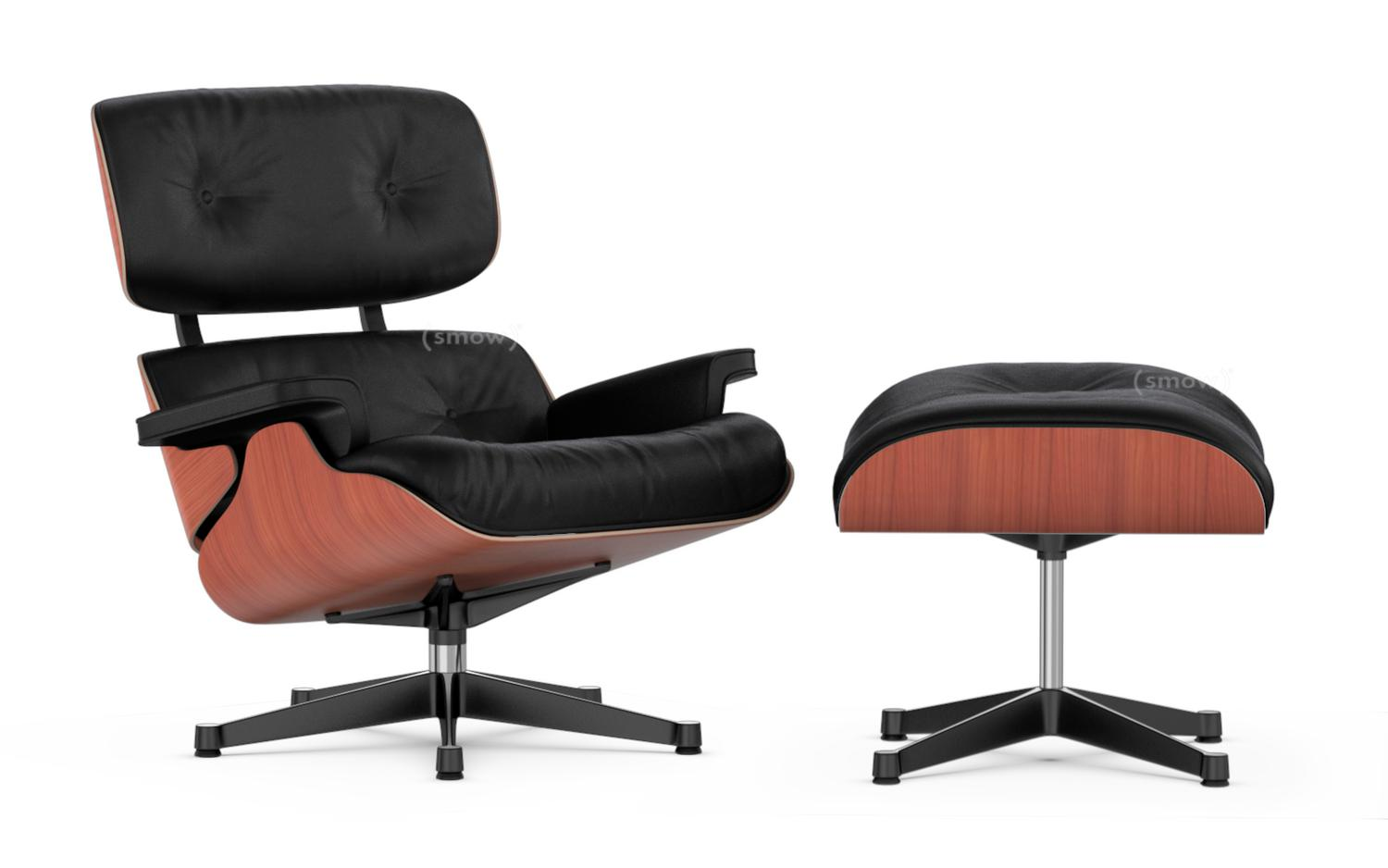 vitra lounge chair ottoman von charles ray eames 1956 designerm bel von. Black Bedroom Furniture Sets. Home Design Ideas