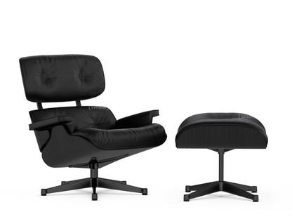 vitra lounge chair ottoman black version esche schwarz nero 89 cm schwarz. Black Bedroom Furniture Sets. Home Design Ideas