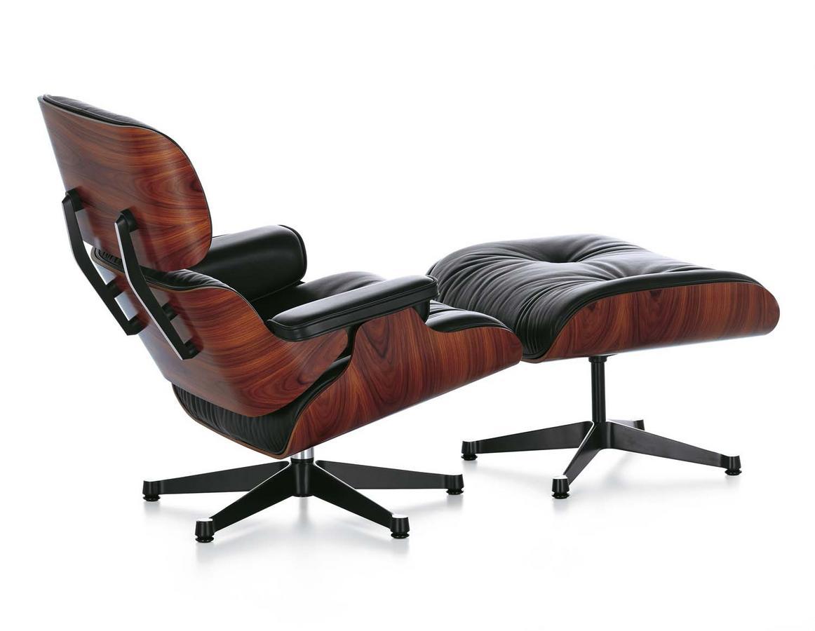 vitra lounge chair ottoman von charles ray eames 1956 designerm bel von. Black Bedroom Furniture Sets. Home Design Ideas