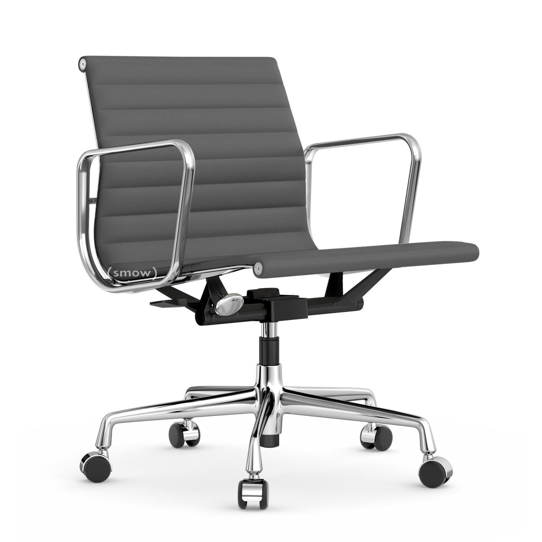 Vitra Aluminium Chair EA 117, Verchromt, Hopsak, Dunkelgrau