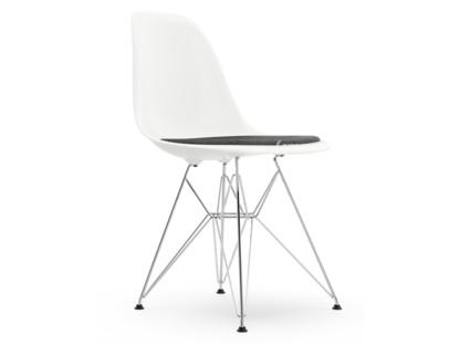 DSR Weiß Mit Sitzpolster Nero / elfenbein Standardhöhe - 43 cm Verchromt