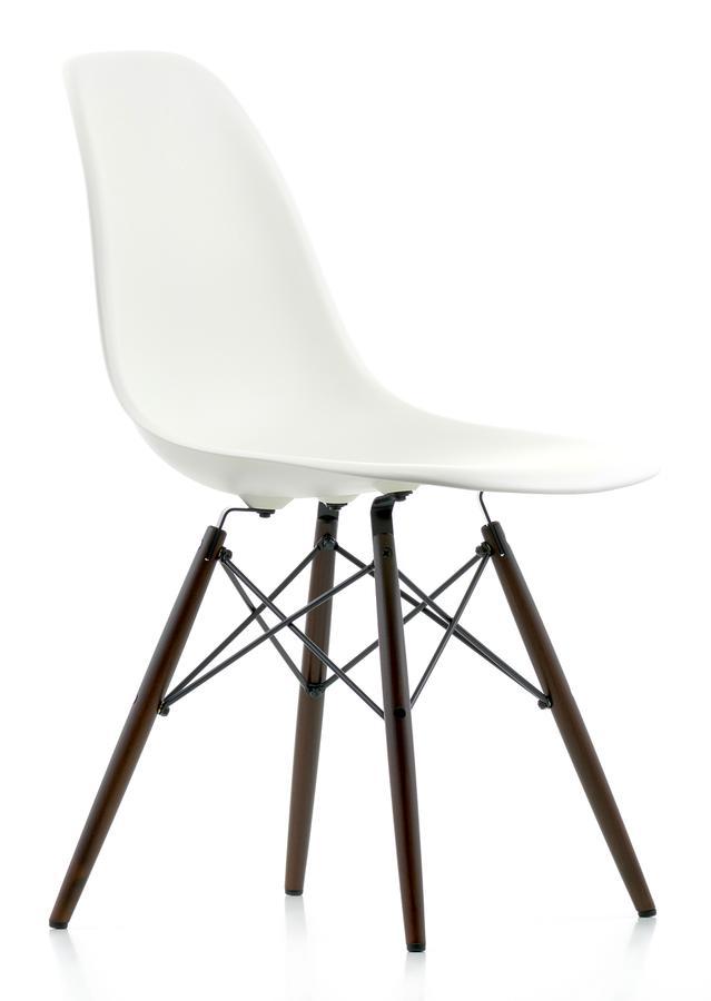 vitra dsw wei ohne polsterung ohne polsterung niedrige h he klassisch 41 cm ahorn. Black Bedroom Furniture Sets. Home Design Ideas