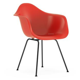 Vitra - Eames Plastic Side Chair DSR, verchromt / moosgrau (Kunststoffgleiter basic dark)